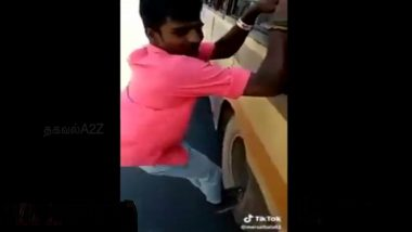 Chennai: Youth Rides on Rim of Bus Wheel, Police Launch Search After Stunt Video Goes Viral