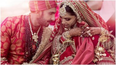 Deepika Padukone – Ranveer Singh Wedding: Did You Notice the 'Sada Saubhagyavati Bhava' Mantra Written on the Bride's Dupatta?