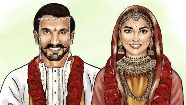This Sketch of Ranveer Singh and Deepika Padukone in Konkani Wedding Outfits is Best Thing on Instagram Today