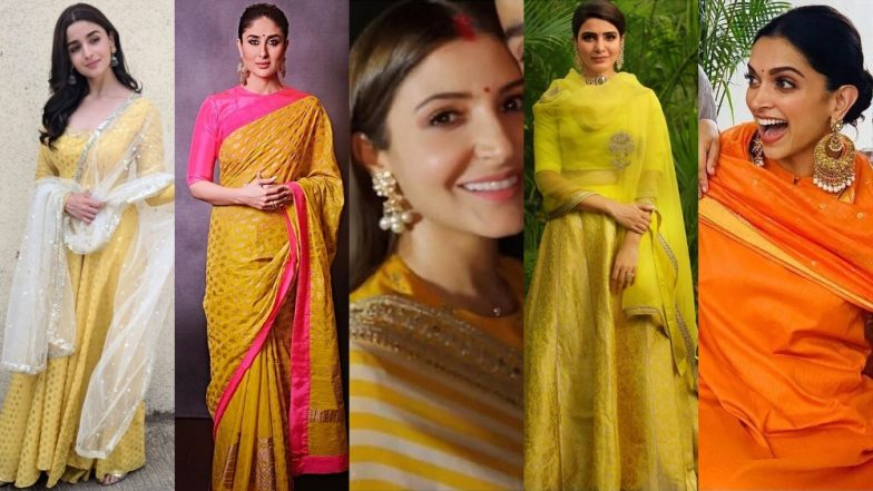 Dhanteras 2018: Take Style Inspiration From Deepika Padukone, Priyanka Chopra, Kareena Kapoor Khan To Dress In Ethereal Golden Hues