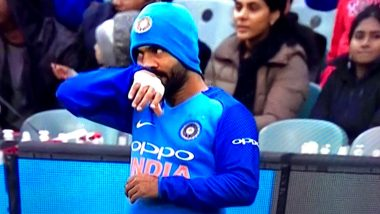 Dinesh Karthik Sports a Beanie During India vs Australia 2nd T20I Match at Melbourne, Leaves Twitterati Amused!