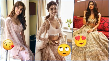 Disha Patani in Calvin Klein Sports Bra and Lehenga is a Diwali Disaster! Try Other Hot n Sexy Looks of The Bollywood Actress (See Pics)