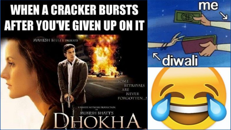 Funny Diwali Jokes & WhatsApp Stickers 2018: Deepavali Image Wishes in Hindi With Hilarious Memes to Wish Your Friends & Colleagues on the 'Festival of Lights'
