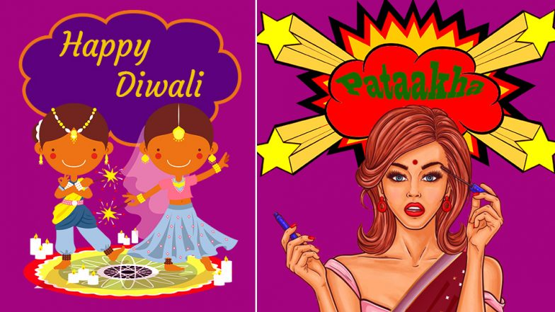 Happy Diwali 2018 Stickers on Whatsapp: Download Festive Sticker Image Packs for Sending Funny Diwali 2018 Greetings & Messages, Watch Video