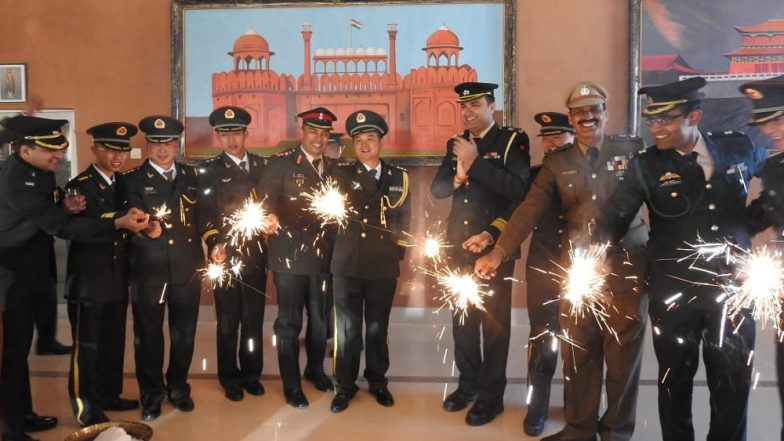 Diwali 2018: Indian Army And China's PLA Jointly Celebrate The Festival at Bum-La in Arunachal Pradesh, View Pics