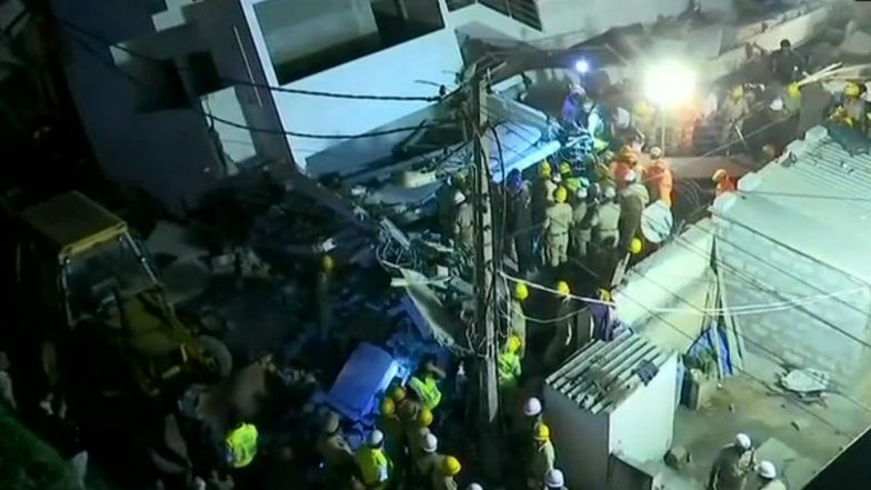 Karnataka: Under Construction Building Collapses in Bengaluru's Thyagarajanagar Area, One Body Recovered