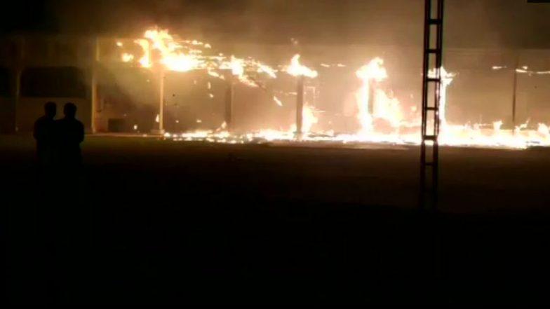 Gurugram: Massive Fire Engulfs Wedding Venue in Sector 9