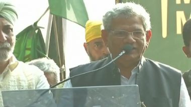 Kisan Mukti March in Delhi: Sitaram Yechury Hits Out at PM Narendra Modi; Says 'BJP, RSS Started Chanting Ram Ram Ahead of Elections'