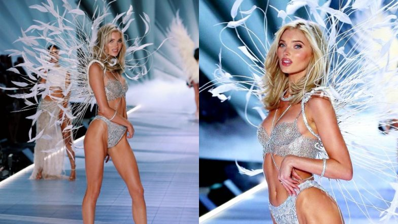 Just 10 Pictures Of Elsa Hosk Wearing The $1 Million Worth Fantasy Bra(lette) At The Victoria's Secret Fashion Show 2018!