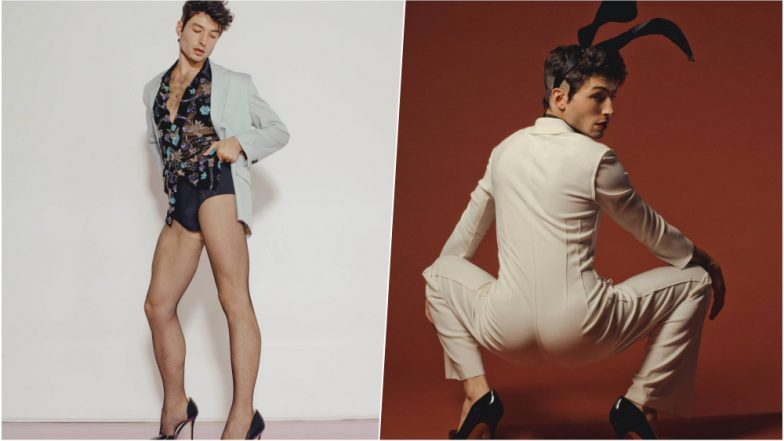 Ezra Miller Looks Sexy Af For Playboy Photo Shoot Poses In Bunny