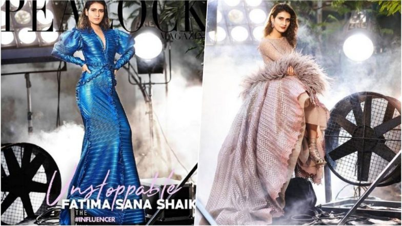 Fatima Sana Shaikh Looks Chic in Electric Blue Couture on the Cover of the Peacock Magazine, See Pics