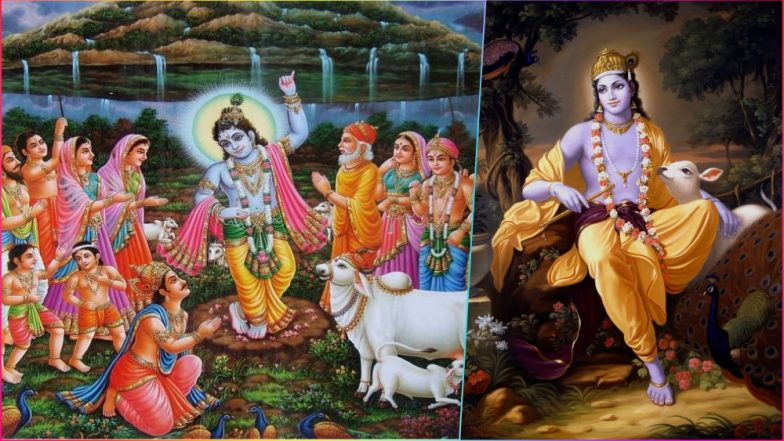 Govardhan Puja 2018 Hd Images Annakut Wishes Lord Krishna P Os With Govardhan Parvat