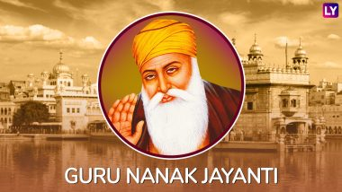 Guru Nanak Gurpurab Images in HD, WhatsApp Stickers & Wallpapers for Free Download Online: Wish Guru Nanak Jayanti 2018 With Beautiful GIF Greetings & Messages