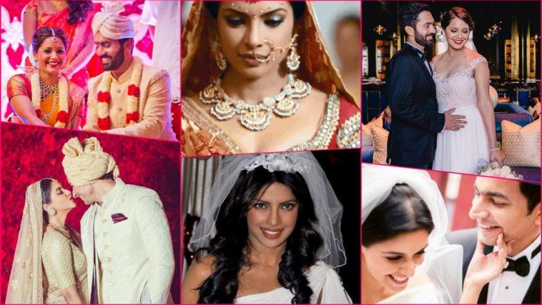 Ahead of Priyanka Chopra's Hindu & Christian Weddings, Here's Look at Indian Celebs Who Stunned As Interfaith Bride (See Pics)