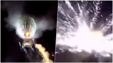 Hot Air Balloon With Fireworks Explodes at the Tazaungdaing Festival of Lights in Myanmar Leaving 9 Injured, Watch Scary Video