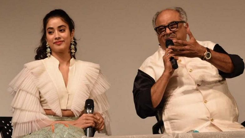 When Janhvi Kapoor Read Out a Poem She Penned for Late Mother Sridevi, While Boney Kapoor Got Teary Eyed Talking About His Kids – Watch