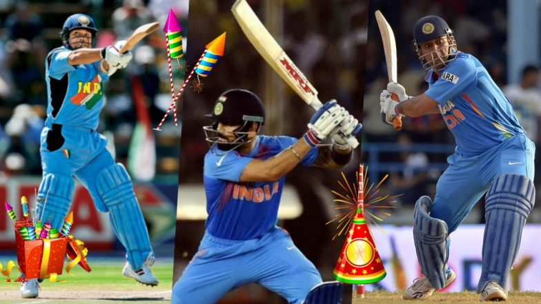 Diwali 2018 Special: These Knocks by Sachin Tendulkar, Virat Kohli, MS Dhoni, Virender Sehwag & Rohit Sharma Can Work As Firecrackers This Deepavali (Watch Videos)