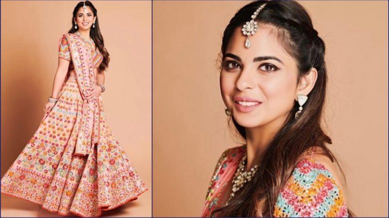 Isha Ambani-Anand Piramal Pre-Wedding Pics: See Bride-to-Be in Abu Jani Sandeep Khosla Lehenga
