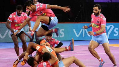 Jaipur Pink Panthers vs Dabang Delhi KC, PKL 2018-19 Match Live Streaming and Telecast Details: When and Where To Watch Pro Kabaddi League Season 6 Match Online on Hotstar and TV?