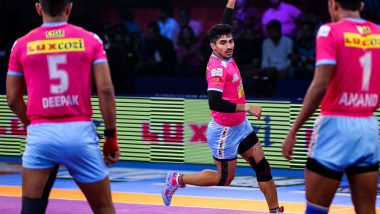 Jaipur Pink Panthers vs U.P. Yoddha, PKL 2018-19 Match Live Streaming and Telecast Details: When and Where To Watch Pro Kabaddi League Season 6 Match Online on Hotstar and TV?