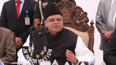 Jammu and Kashmir Governor Satya Pal Malik Turns J&K Bank Into PSU, Opposition Calls It Attack on Autonomy