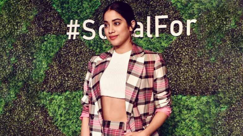 Janhvi Kapoor's Pink Chequered Mini Dress Makes Us Want to Steal Her Look! (View Pic)