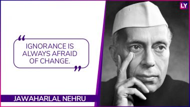 Jawaharlal Nehru Birth Anniversary: 5 Inspirational Quotes by India's First Prime Minister 'Chacha' Nehru