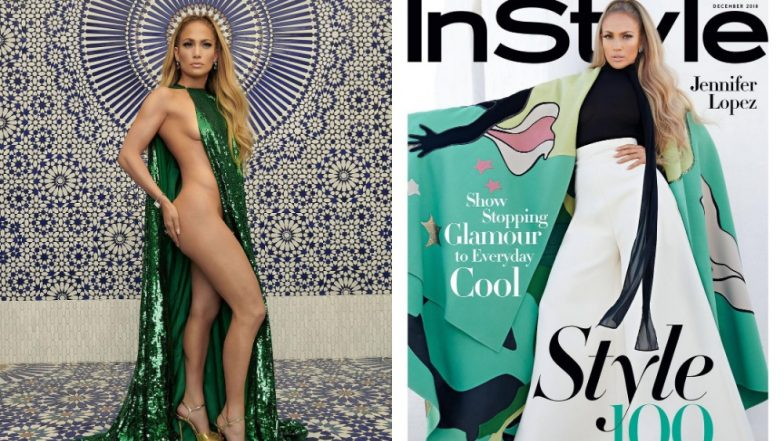 Jennifer Lopez Wears Nothing But A Green Valentino Cape For Instyle Mag Cover And Flaunts Her Gorgeous Curves - View Pics