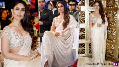Kareena Kapoor Khan Is Vision in White in Manish Malhotra Saree! See Pics of Begum of Bollywood at Jashn-E-Youngistan 2018