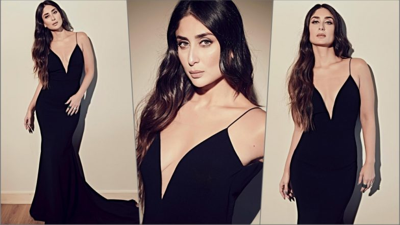 Kareena Kapoor Khan Stuns in Sexy Black Theia Gown With a Plunging Neckline at 'Mowgli' Premiere in Mumbai (See Pics)