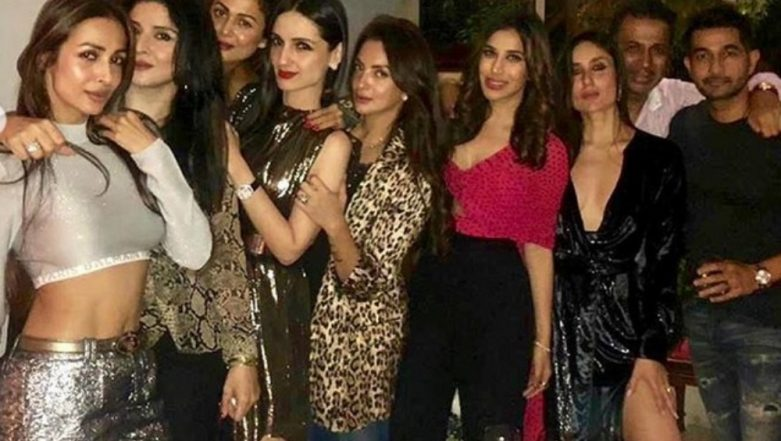 Kareena Kapoor Khan's Thigh High Slit is All That We Could Notice in this Picture Of Bebo With Her Gang!