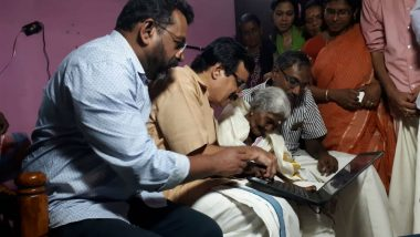 Karthyayani Amma, 96-Year-Old Who Topped Kerala Literacy Exam, Gets Laptop as Gift From Education Minister