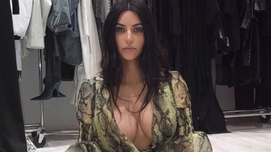 Kim Kardashian Gives an Eyeful of Her Bosom in Daringly Low-Cut Outfit by Off-White, See Her Hot Instagram Pic