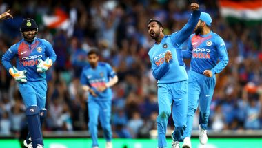 Krunal Pandya Achieves Best Bowling Figures in T20Is For India in Australia: All Rounder's 4/36 Also The Best Record by a Spinner Down Under!