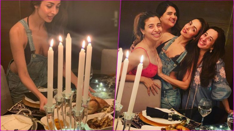 Malaika Arora Exposes Lacy Black Bra in Sexy Peek-a-Boo Tease at Thanksgiving 2018 Feast (See Hot Photos)