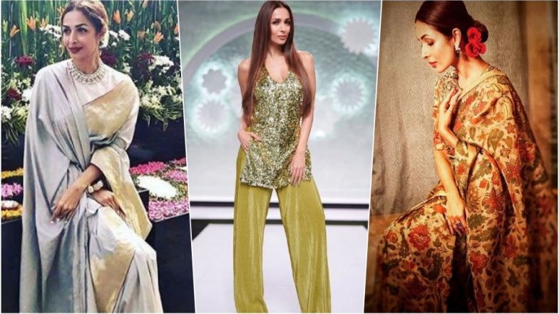 Malaika Arora as Diwali 2018 Outfit Inspiration:  Take Cue from This Sexy Actress on Traditional Dressing This Deepavali Festival - See Pics