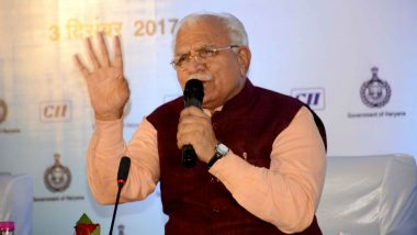 Manohar Lal Khattar Again: 'EVM = Every Vote For Modi', Tweets Haryana CM Days Before Assembly Elections 2019; Deletes Post Later