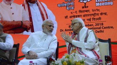 Lok Sabha Election Results 2019: LK Advani Congratulates PM Narendra Modi, BJP Chief Amit Shah on 'Historic Win'
