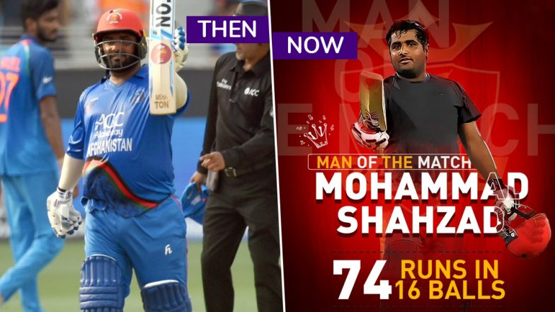 Rajput's Mohammad Shahzad Hits 76 Runs in 16 Balls at the Opening Match of T10 League 2018 Against Sindhis: Watch Video Highlights