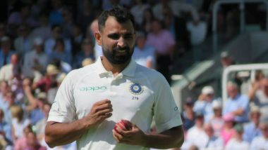 Mohammad Shami Registers Career-Best Figures After Sclaping Six Wickets Against Australia (Watch Video)