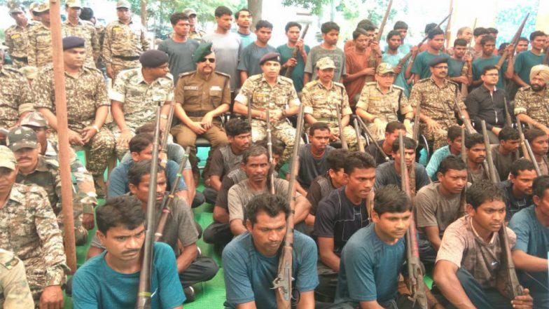 62 Naxals Surrender in Chhattisgarh, Rajnath Singh Terms It 'huge Achievement'