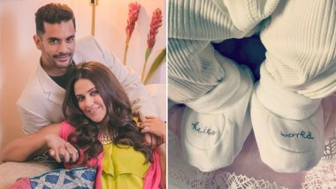 Proud Mommy Neha Dhupia Says Baby Mehr Sends 'Lots of Love' to the World - See Pic