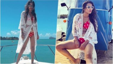 Nia Sharma Sets the Temperature Soaring in Red Bikini! See Hot Pictures of Sexy TV Actress from Her Mauritius Vacation