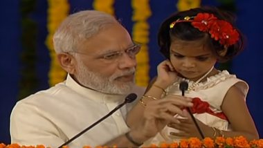 Fake News! Video of PM Modi Asking a Little Girl to Say 'Rahul Gandhi Pappu Hai' is Fake, Check The Real Video