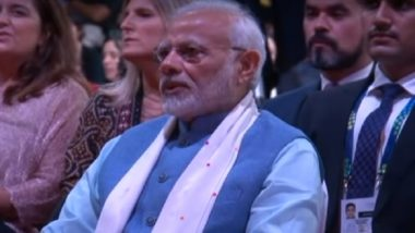 PM Narendra Modi Chants 'Om Namah Shivaya' with Argentinian Artistes at Yoga for Peace' Event on Sidelines of G20 Summit, Watch Video
