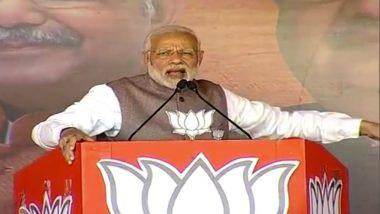 Narendra Modi Sharpens Attack on Gandhi Family, Says Dalit Leader Sitaram Kesari Was Ill-Treated by Congress