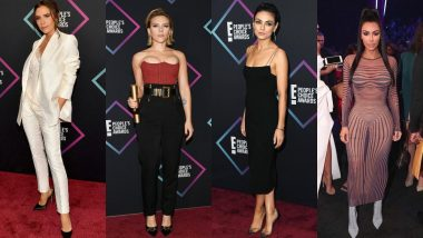 People's Choice Awards 2018 Red Carpet: Kim K, Victoria Beckham, Scarlett Johansson, Mila Kunis Looked Hot AF! View Pics