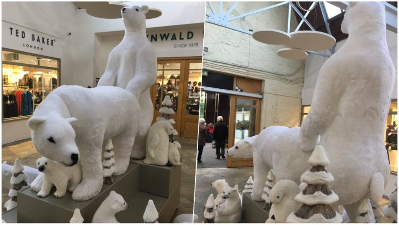 Christmas Decorations 2018 Go X-Rated! UK Mall Places Polar Bears in a Sexual Position, Pics Go Viral