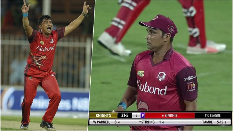 T10 League 2018 Video Highlights: Pravin Tambe, 47-Year-Old Indian Bowler Picks Record First 5-Wicket Haul in T10 Cricket League