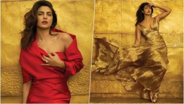 Priyanka Chopra Stuns on Cover of Vogue January 2019 Issue! The Bride-to-Be Looks Breath-Taking in Red & Gold Outfits (See Pics)